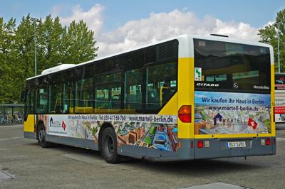 Buswerbung mit der MMD